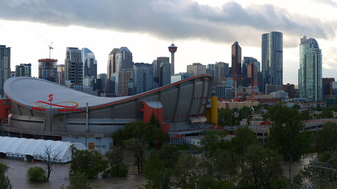Calgary City View from Scotsman's Hill