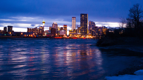 Calgary City View from St. Patrick's Island