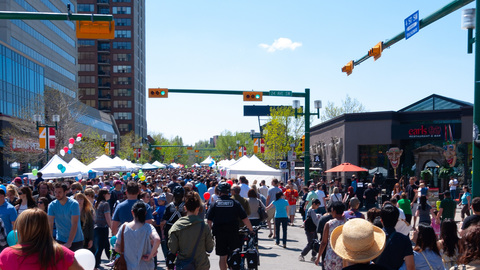 Lilac Festival Mission District 4th Street SW Calgary